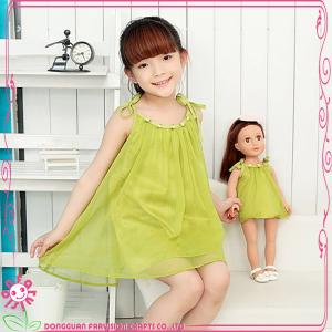 China Doll and girl matching clothes, custom doll clothes wholesale on sale
