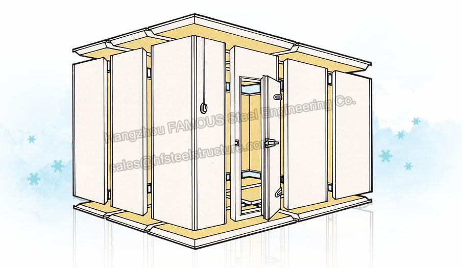 Polyurethane Sandwich Panels Cold Room Walk In Freezer
