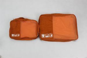 China Orange Promotional Nylon Storage Bag , Fashion Travel Undergarments Pouch on sale