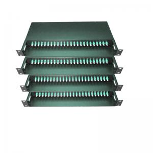 China 48 / 96 Fiber MPO/MTP Fiber Optic Patch Panel Termination Box 19 Inch SPECC Material on sale