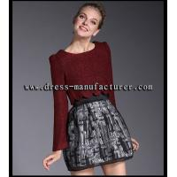 A9072 New fashion maroon organza skirt for women
