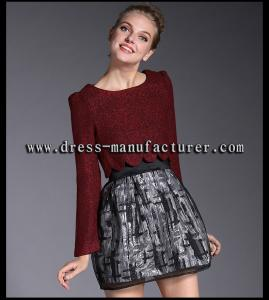 China A9072 New fashion maroon organza skirt for women on sale