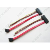 China Right Angle 4 Pin Housing Cable Harness Assembly SATA 22 Pin To SATA 7 Pin on sale