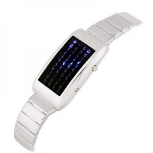 China Classic fashion Digital Metal 44 LED Lights Womens Watch Mens Watches on sale