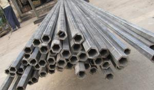 China ASTMA1045 Perforated Hexagonal Hollow Steel Tube / Thick Wall Steel Pipe on sale