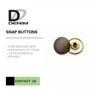 China Brass Material Jacket Snap Buttons Replacement For Men & Women Iso 9001 Approved on sale