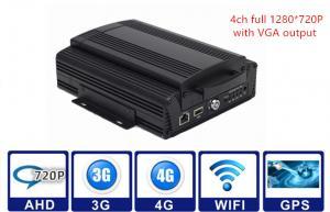 China 2TB HDD 3G / 4G WIFI GPS G - sensor Car Mobile DVR 4CH AHD 720P Vehicle MDVR on sale