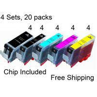 20 Printer Ink Cartridge PGI-5BK CLI-8 Pixma iP4200 iP4300 iP4500 IP5200