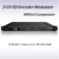 REM7204 Two-Channel SD-SDI TO ISDB-T/TB MPEG-2 SD Encoding Modulator