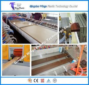China PE PVC WPC Profile Extrusion Line Wood Plastic Making Machine on sale
