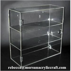 China Eco-friendly High Quality Acrylic Display Box 3 Tier Plexiglass Case on sale
