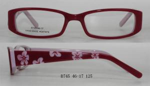 China Custom Youth Eyeglass Frames For Kids , Handmade Acetate , Demo Lens on sale
