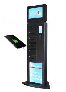 China Airport Video Advertising Mobile Device Charging Station with 32 Inch LCD Screen supplier