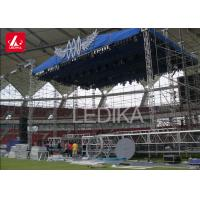 Galvanized Steel Line Array Self - Locking Layer Truss For Outdoor Concert
