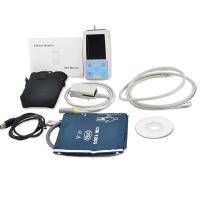 China PM50 TFT Portable 24 hours USB Ambulatory Automatic Blood Pressure Oxygen NIBP PR SPO2 Patient Monitor digital BP Test on sale