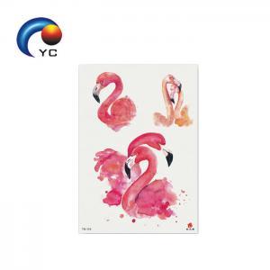 China Temporary Tattoo Sticker Sheet Flamingo Bird Ladies Girls Fancy Dress Party Supply on sale