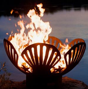 China 42 In Corten Steel Wood Burning Fire Pit For Backyard Patio Garden on sale