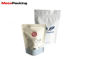China Matte Printing Foil Stand Up Pouches Zipper Top For Coffee / Snack Package on sale