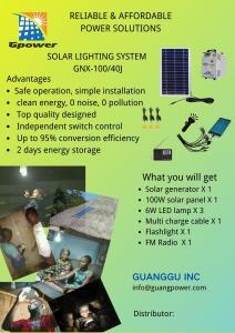 China DC5V Output Solar Energy System 100w Solar Panel Kit With Battery on sale