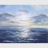 China Modern Wall Art Paintings , Seascape Oil Paintings Non - Toxic  For House Ornament on sale