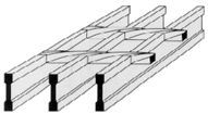 I bar steel grating