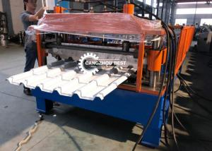China Color Coated Galvanized Steel Glazed Roofing Q Tiles Sheet Roll Forming Machine on sale