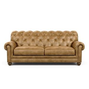 China Antique Style 3 Seater Sofa Chesterfield Tufted Sofa Set Genuine Leather Couch on sale