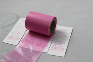 China Cinta termal de la tinta de la transferencia del color rosado para la impresora de la etiqueta de código de barras on sale
