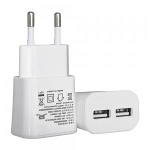 China High Efficiency Home Travel Dual Wall USB Charger 5v 2A For Cellphone on sale
