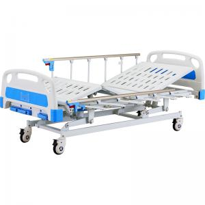 China Three crank Manual Hospital bed simple bed on sale