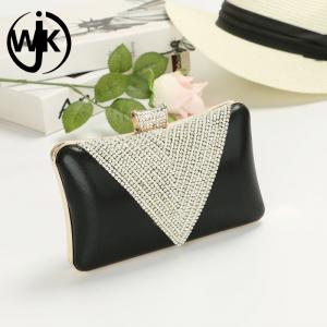 55c94d8b60 ... Quality PU leather evening bag shining diamond dinner bags clutch party  bag for sale ...