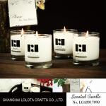 Clear Soy Wax Long Lasting Scented Candles 8cm * 9cm For Home Decoration