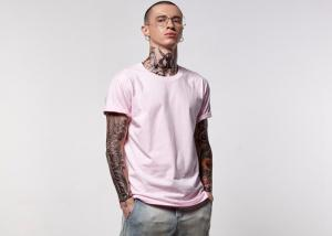 China EL Flashing Long Mens Cotton T Shirts O Neck Apply To Fitness Clothes on sale