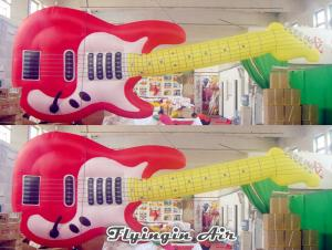 China Concert and Stage Decorative Inflatable Guitar Model for Music Festival Decoration on sale