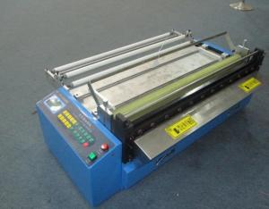 China Automatic Plastic Sleeve /Film Poly Tubing Cutting Machine With Customized Width on sale