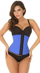 China Sexy Bodyshapers Wholesale Blue Strapless Contour Waist Trainer with size S M,L,XL on sale