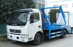 China Swing Arm Garbage Waste Removal Trucks Carbon Steel Waste Transport With 5CBM Hopper supplier