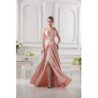 Sexy One Shoulder Taffeta Ruffle Side Zipper Bride Mothers Dresses Long Dress With Sequins Flower