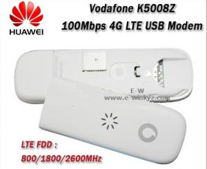 China 100% new USB modem Unlocked Vodafone K5008 K5008-Z ZTE LTE 4G Broadband Dongle 100Mbps on sale