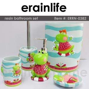 China kids polyresin bathroom accessories set on sale