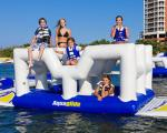 China Giant commercial inflatable water park floating island Inflatable aqua park wholesale