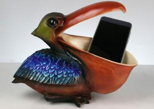 China Toucan Non Toxic Resin Crafts , Creative Mobile Phone / Keys / Card Holder on sale