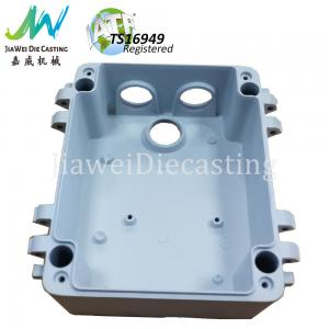 China Waterproof CCTV Camera Parts , White Powder Coating Die Cast Aluminum Housing on sale