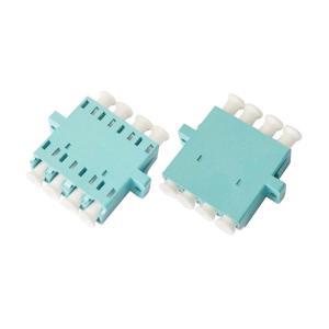 China LC OM3 Quad optical fiber adapter for Optic LAN , Blue / Beige / Aqua on sale