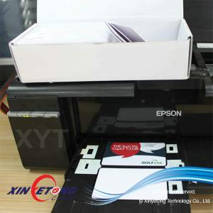 China Waterproof Glossy Double Side Printing Inkjet PVC Card on sale