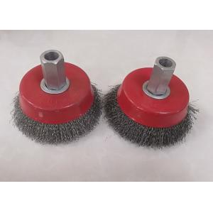 China 10cm Dia Spindle Mounted Angle Grinder Wire Brush / Crimped Wire Brush With Hex Shaft on sale