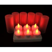 color change rechargeable battery tea lights with Remote Control in set of 6