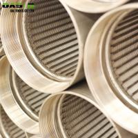 Rod Based Continuous Slot Johnson Wire Wrapped Screen Tube/Wedge Wire Screen Pipe