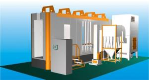 China Multi - Cyclone Automatic Powder Spray Booth With Two Recovery System on sale