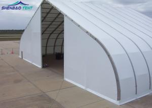 China Metal Frame Curved Tent For Width Fire Retardant TFS Tent White PVC Fabric on sale